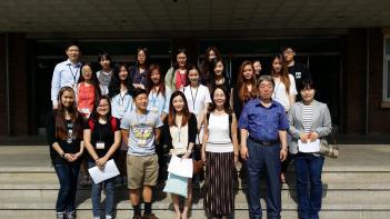 오산미국고등학교 학생 19명 본교 수업 참관... 첨부이미지