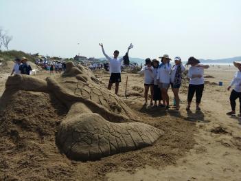 제 14회 태안 국제 모래조각 페스티벌 참가... 첨부이미지