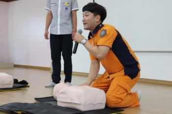 김천소방서 응급처치 및 심폐소생술 교육 첨부이미지